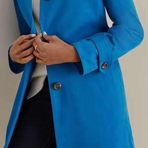 Gorgeous electric blue trench